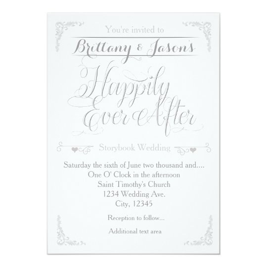 Happily Ever After Storybook Wedding Invitation