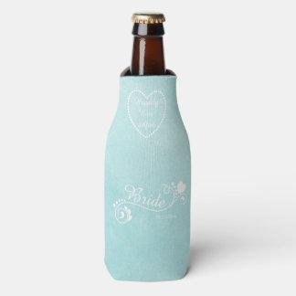 Happily Ever After Teal Bride Bottle Cooler