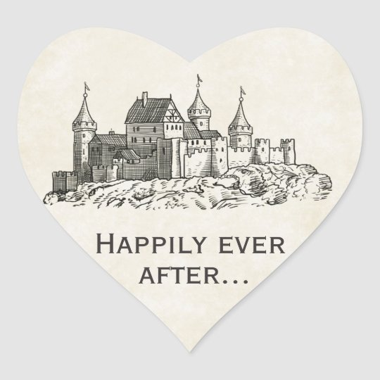 Happily Ever After Wedding Favour Stickers