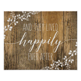 Happily Ever After Wedding & Home Sign Poster