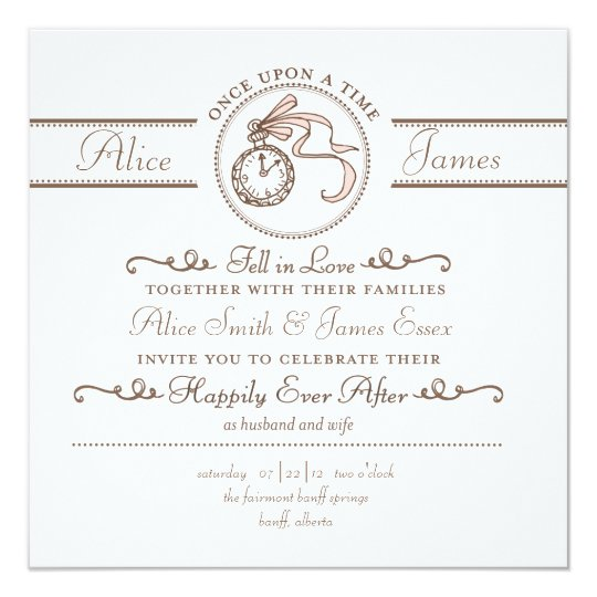 Happily Ever After Wedding Invitation