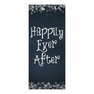 Happily Ever After Wedding or Anniversary Blank 10 Cm X 24 Cm Invitation Card