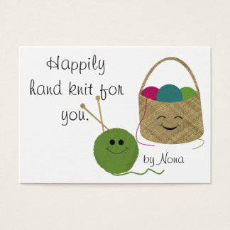 Happily Hand Knit Hang Tag Business Card