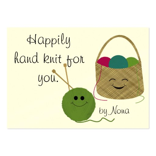 Happily Hand Knit Hang Tag Business Card Template