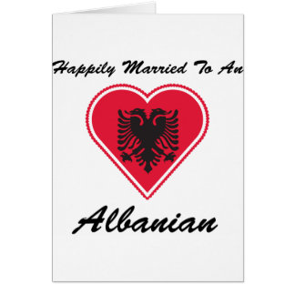 Happily Married Albanian Greeting Card