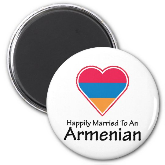 Happily Married Armenian 6 Cm Round Magnet