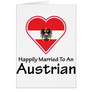 Happily Married Austrian Greeting Cards