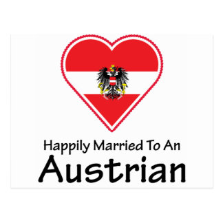 Happily Married Austrian Postcard