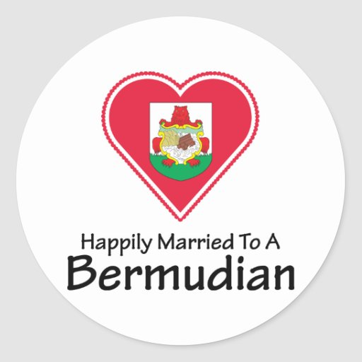 Happily Married Bermudian Stickers