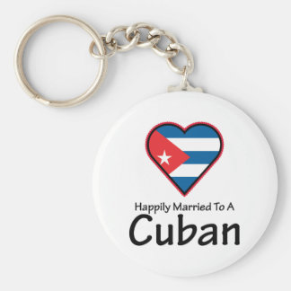 Happily Married Cuban Key Ring