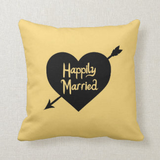 Happily Married Customized anniversary pillow Cushions