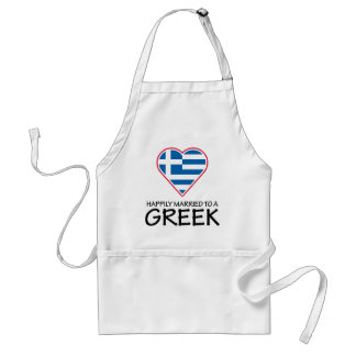 Happily Married Greek Standard Apron