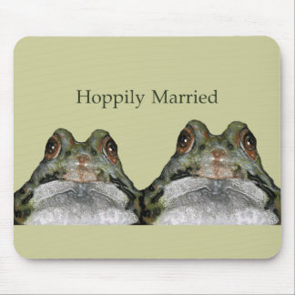 Happily Married Hoppily Two Frogs Cute Mousepads