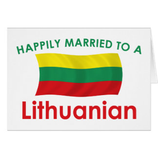 Happily Married Lithuanian Greeting Card