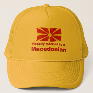 Happily Married Macedonian Trucker Hat