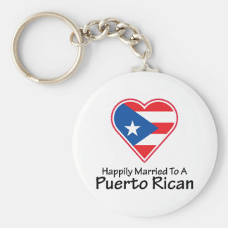 Happily Married Puerto Rican Key Ring