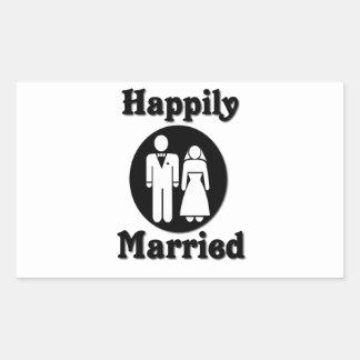Happily Married Rectangular Sticker