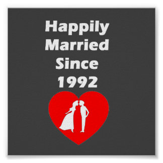 Happily Married Since 1992 Poster