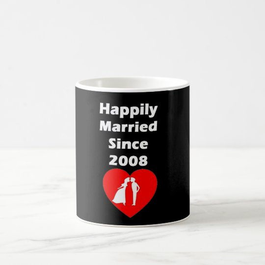 Happily Married Since 2008 Coffee Mug