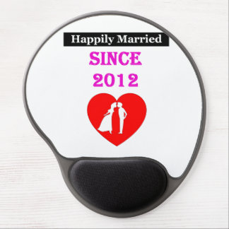 Happily Married Since 2012 Gel Mouse Pad