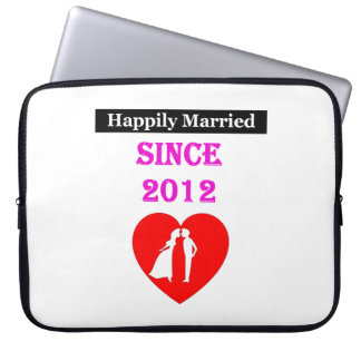 Happily Married Since 2012 Laptop Sleeve