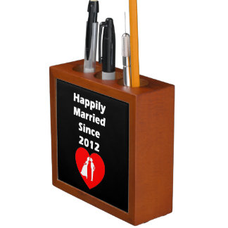 Happily Married Since 2012 Pencil Holder