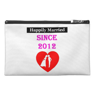 Happily Married Since 2012 Travel Accessories Bags