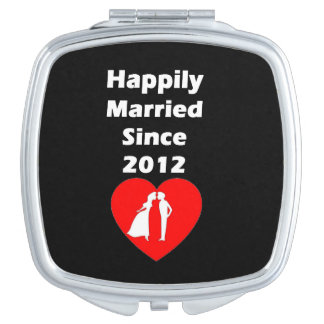Happily Married Since 2012 Travel Mirror
