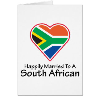 Happily Married South African Greeting Card