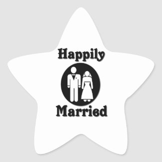 Happily Married Star Sticker