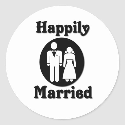 Happily Married Stickers