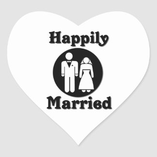 Happily Married Heart Sticker