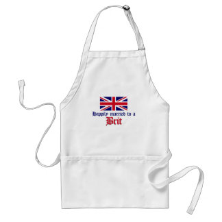 Happily Married To A Brit Standard Apron