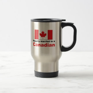 Happily Married To A Canadian Stainless Steel Travel Mug