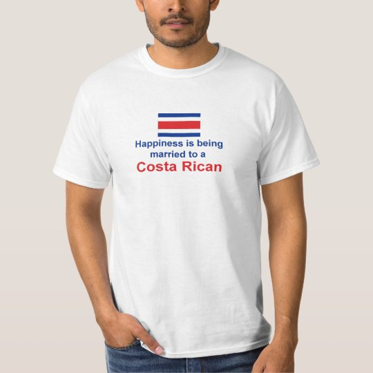 Happily Married To A Costa Rican T-Shirt