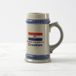 Happily Married To A Croatian Mugs