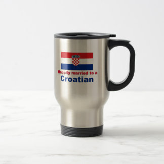 Happily Married To A Croatian Stainless Steel Travel Mug