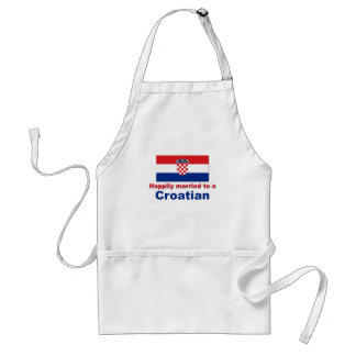 Happily Married To A Croatian Standard Apron