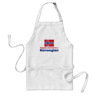 Happily Married To A Norwegian Standard Apron