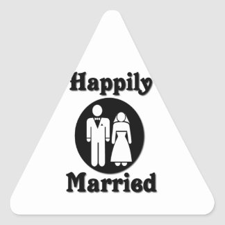 Happily Married Triangle Sticker