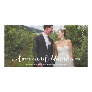 Happily Married | Wedding Thank You Photo Card