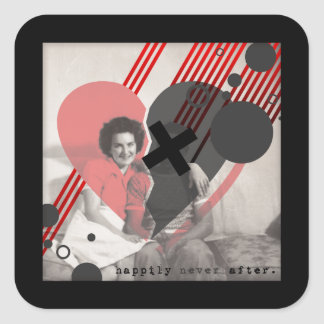 happily never after square sticker
