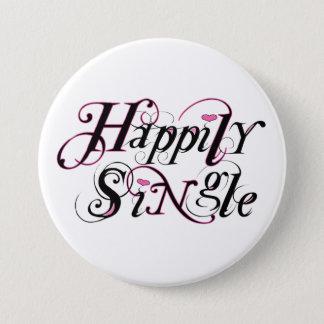 Happily Single 7.5 Cm Round Badge