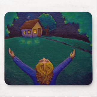 Happiness acceptance gratitude wonder joy fun art mouse pad
