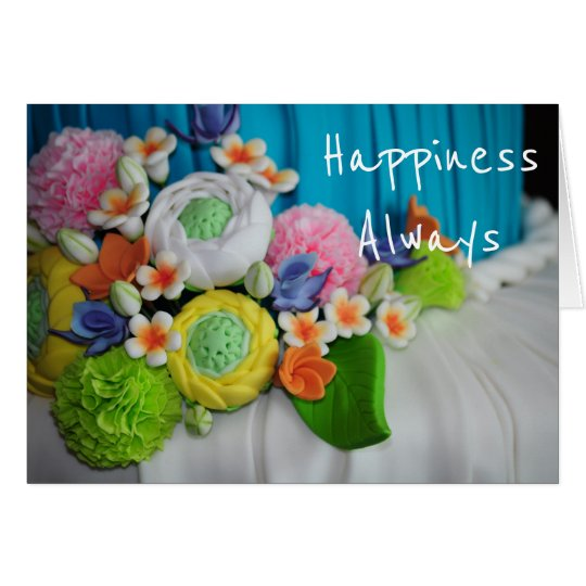 Happiness Always wedding congratulations Card