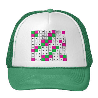 Happiness and Luck Crossword Cap