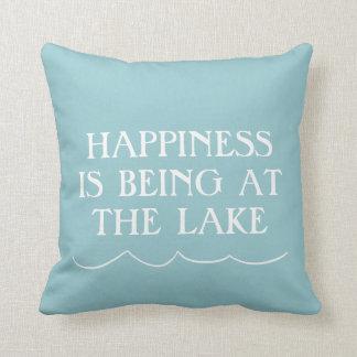 Happiness at the Lake Cushion