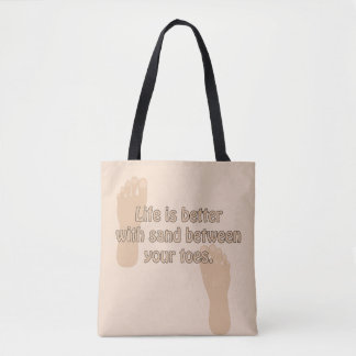 Happiness Beach Sand Toes Tote
