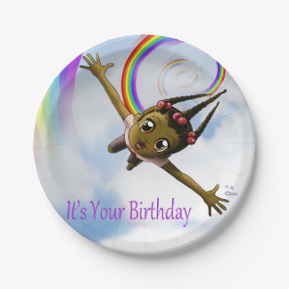 Happiness Birthday Paper Plates 7 Inch Paper Plate