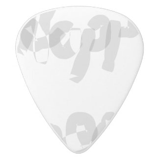Happiness Calligraphy Art White Delrin Guitar Pick